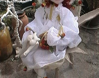 PDF file/ Cloth doll class/Doll-making tutorial/Witch doll Tutorial/Soft sculpture doll/ Rose the good witch class/Halloween doll class