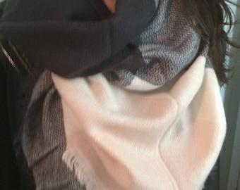 Blanket Scarf for Women, Zara Tartan Inspired,Oversized Large Unique triangle trendy