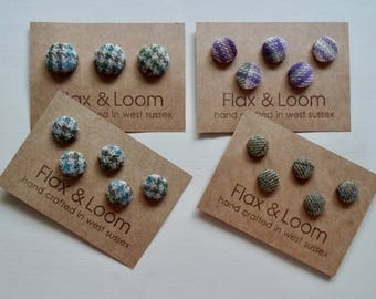 Shetland Tweed Covered Buttons