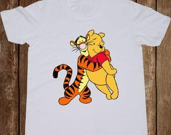 Tigger and Winnie The Pooh Youth shirt/ Best friends toddler tshirt/ Pooh Bear and Tigger/ tee/ Kid t-shirt/ Boy tshirt/ Girl shirt/ (B22)