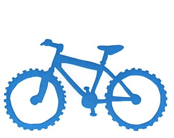 blue mountain bike card