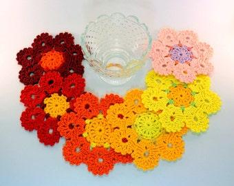 Crochet Coaster PATTERN, Crochet Home Decor Pattern, Flower Coasters Pattern, DIY Coasters Gift, Digital Pattern PDF #193, Lyubava Crochet