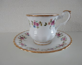 Cup and saucer Rosina Bone China
