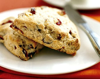 Homemade Recipe: HPB Delectable Dried Cranberry-Nut Lemon SCONES