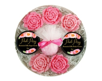 Peony Gift Box - Bath & Body - Gift For Her - Full Of Ruffly Luxury