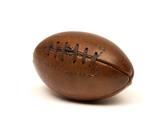 Mini vintage leather rugby ball