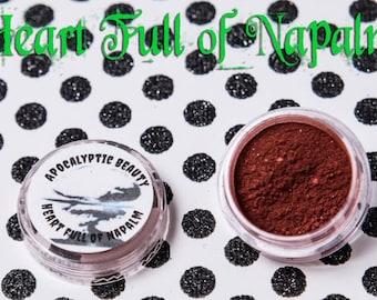 Heart Full of Napalm - rusty red-orange vegan eyeshadow