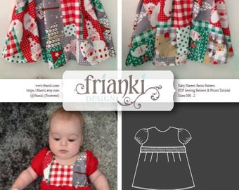 Baby Girl Sleeved Ruffle Dress - PDF Sewing Pattern and Photo Tutorial - Sizes 000 to 2 - Instant Download
