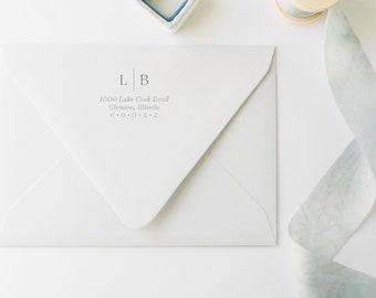 Return Address Rubber Stamp - Custom Wooden Stamp - Personalized Return Address [ST-03]
