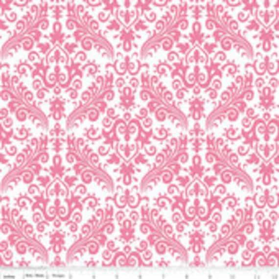 Damask Basics Riley Blake C820-70 Hot Pink Hollywood 1/2 yard to 3/4 yard