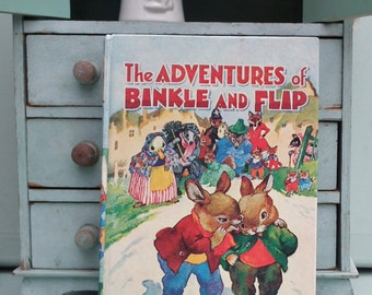 The Adventures of Binkle and Blip Enid Blyton HB 1967 Deans Editon Vintage 1960s 60s Illustrated Children's Book Rabbits Bunnies hardback