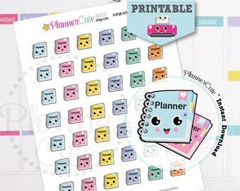 Planner Girl Stickers, Kawaii Printable Planner Stickers, Taking Notes Set, Cute Agenda Stickers, Notebook, Erin Condren K010