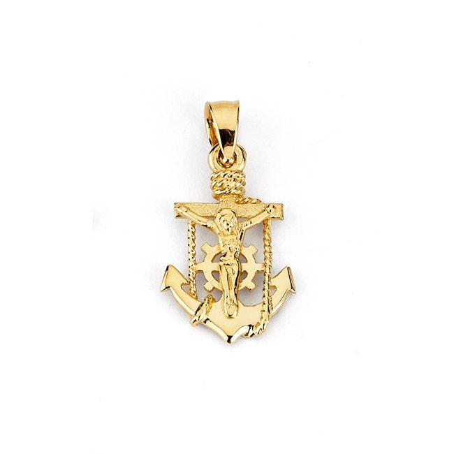 14k Mariners Cross 14k Anchor 14k Crucifix Gold Cross Gold