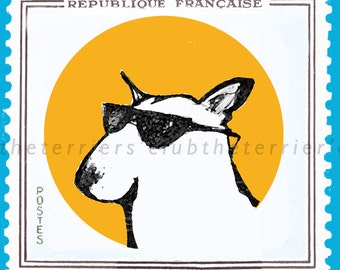 My French Holiday Bull Terrier Cards Set of Four