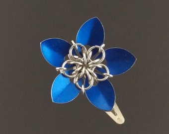 Scale Maille Flower Hair Clip
