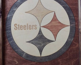 Pittsburgh Steelers Wooden Inlay Wall Art