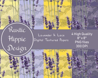 Lavender & Lace Digital Paper Pack Lavender Lace