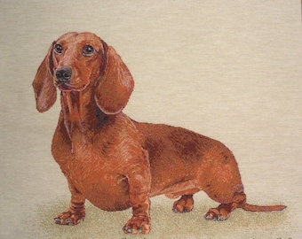 Fabric Panel tapestry Dachshund coupon