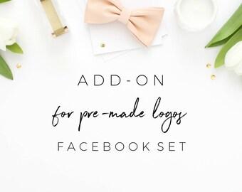 Matching Facebook Cover Design for Premade Logos, Facebook Banner Add On, Business Branding, Branding Kit, Branding Add On