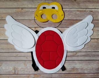 Koopa Troopa Mask and shell Pretend Play Dress Up Halloween costume