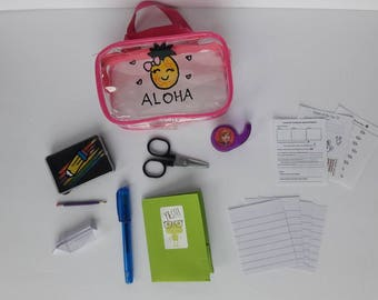 Miniature Back to School Set - 18 Inch Doll School Supplies for American Girl Sized Doll or Stuffed Animal