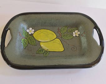 Holland Mold Ceramic Tray - Lemons and Foliage