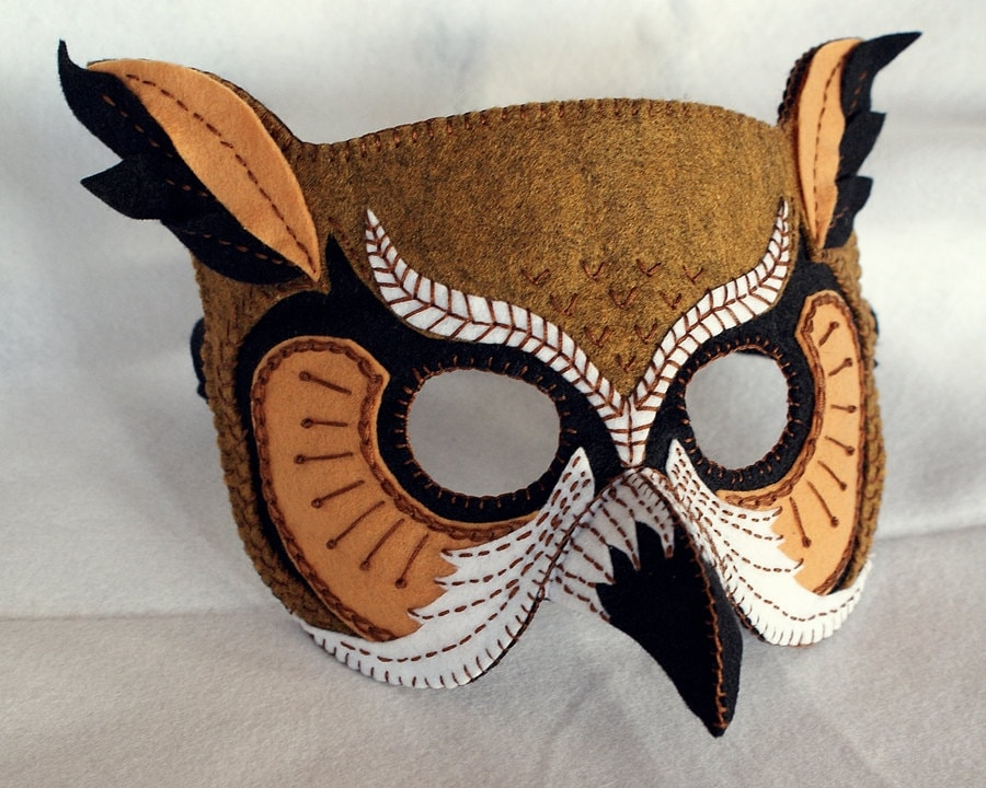 Owl Mask PDF Pattern from oxeyedaisey on Etsy Studio
