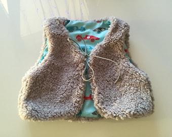 Boy or girl fur vest