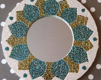 Miroir Mandala Mosaïque
