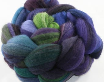 Hand Dyed roving - Merino wool spinning fiber