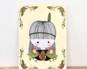 "Illustrated postcard ""Chintz"", decorative stationery"