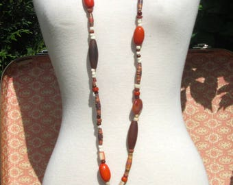 Ethnic necklace orange collection nature