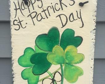 St. Patricks Day Slate door hanging, St. Patty's Day decor, Irish decor, St Patricks day, Welcome Plaque, door decor, St Patricks decoration
