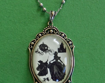 Cinderella Necklace, pendant on chain