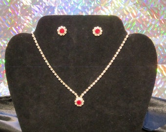Swarovski Crystal Set- Necklace and Earrings  .....titanium and Crystal chain WAS 99'00   SALE PRICE   55.00