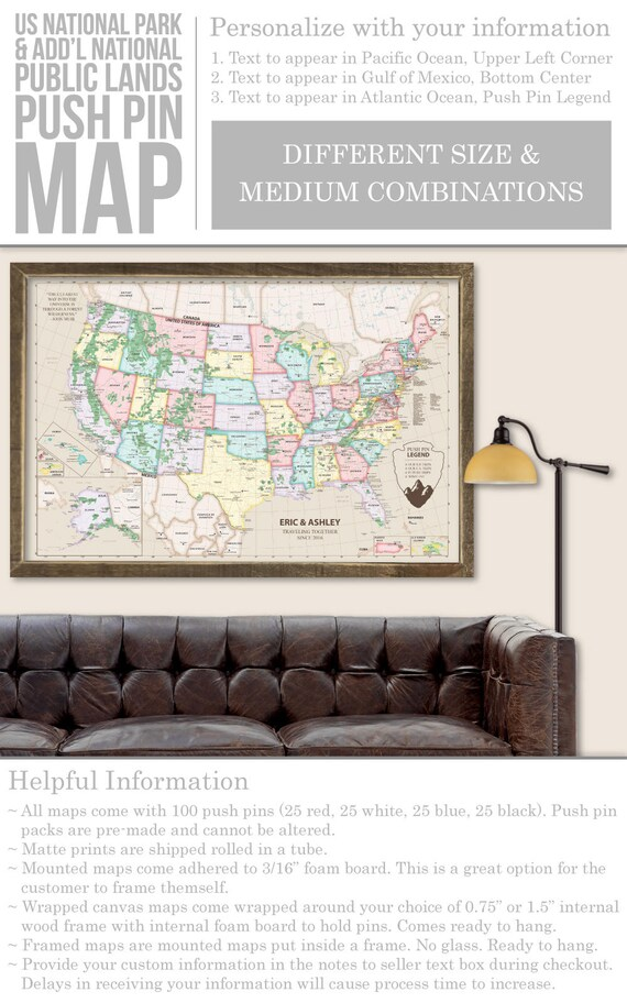 Us national parks map national parks map checklist united us national parks map national parks map checklist united states map of national parks travel map camping rv map gumiabroncs Image collections