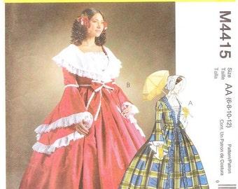 McCall's 4415 Misses' Civil War Costume Pattern, 6-12