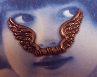 Copper Ox Plated Fancy  Brass Angels Wings 354COP x2