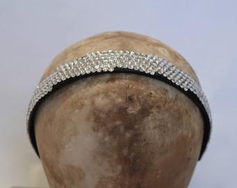 SALE -Crystal Covered Satin Headband