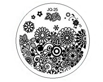 10pcs Round Nail Art Stamping Plates for Nail Stamping