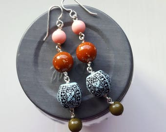 cinque terre earrings - vintage lucite and sterling