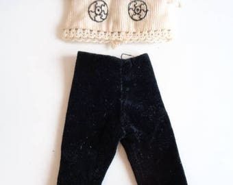 Vintage 1964 Penny Brite Doll Clothes Outfit - Chit Chat Top and Pants