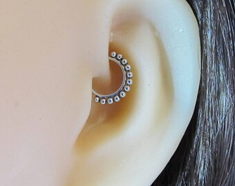 Daith Piercing,Septum Surgical Steel Jewelry..20g..8mm