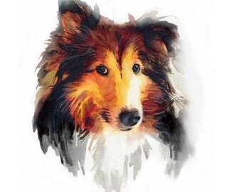 Custom Dog Portrait Custom Dog Painting Dog Portrait Custom Pet Portrait Watercolor Painting Memorial Art Pet Loves Gift