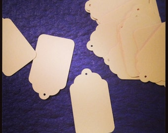 15 Manila Cardstock Large Tags
