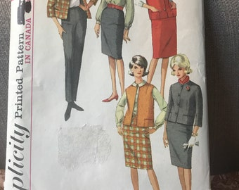 Vintage 60s Simplicity 6132 Separates Pattern-Size 14 (34-26-36)