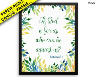 Romans Canvas Art Scripture Printed Romans Christian Art Scripture Christian Print Romans Framed Art Scripture scripture art yellow green