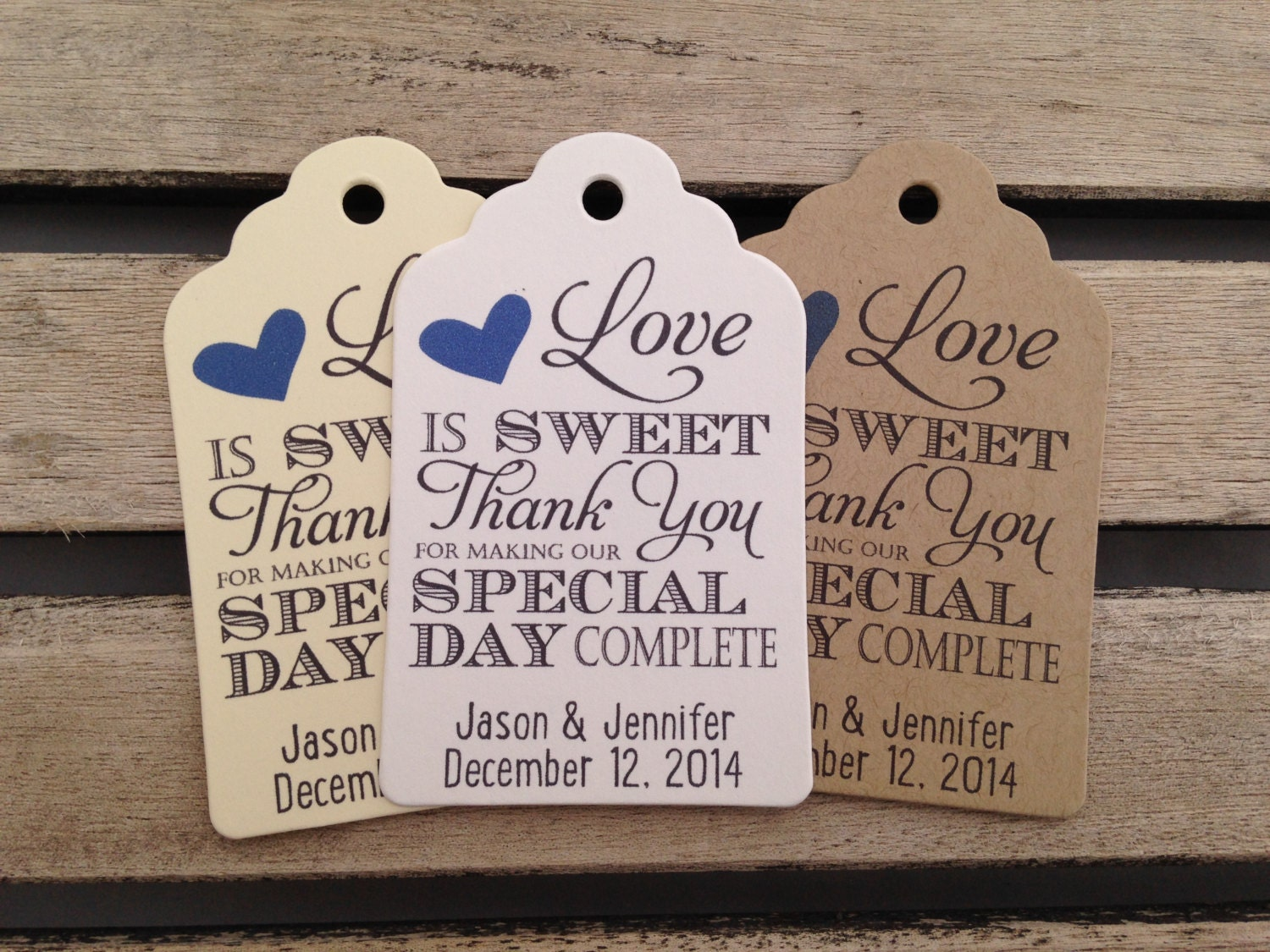 Wedding Favour Gift Tags: Wedding Gift Tags Love Is Sweet Thank You For Making Our Day