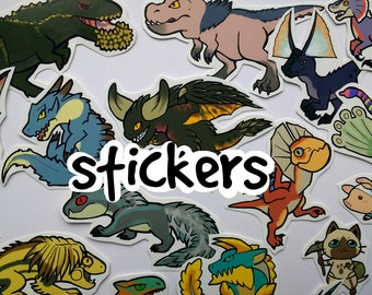 Monster Hunter - Stickers (average 15) choose from over 70 designs!