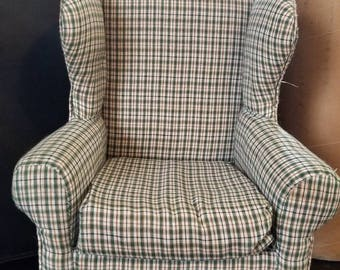 Gingham Doll Arm Chair